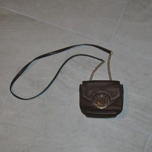 Michael Kors Brown Leather Crossbody Handbag